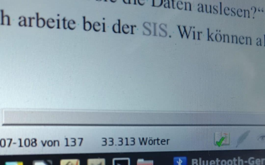 """Mein sechster Bericht zum Stand meines Romanprojekts """"2040"""""""
