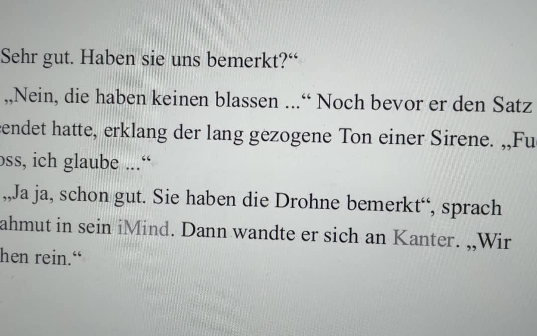 """Mein zehnter Bericht zum Stand meines Romanprojekts """"2040"""""""